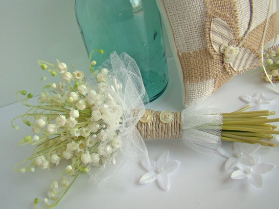 Lily Of The Valley Wedding Bouquet: Rustic Country Bridal Bouquet Lily Of The Valley Wedding