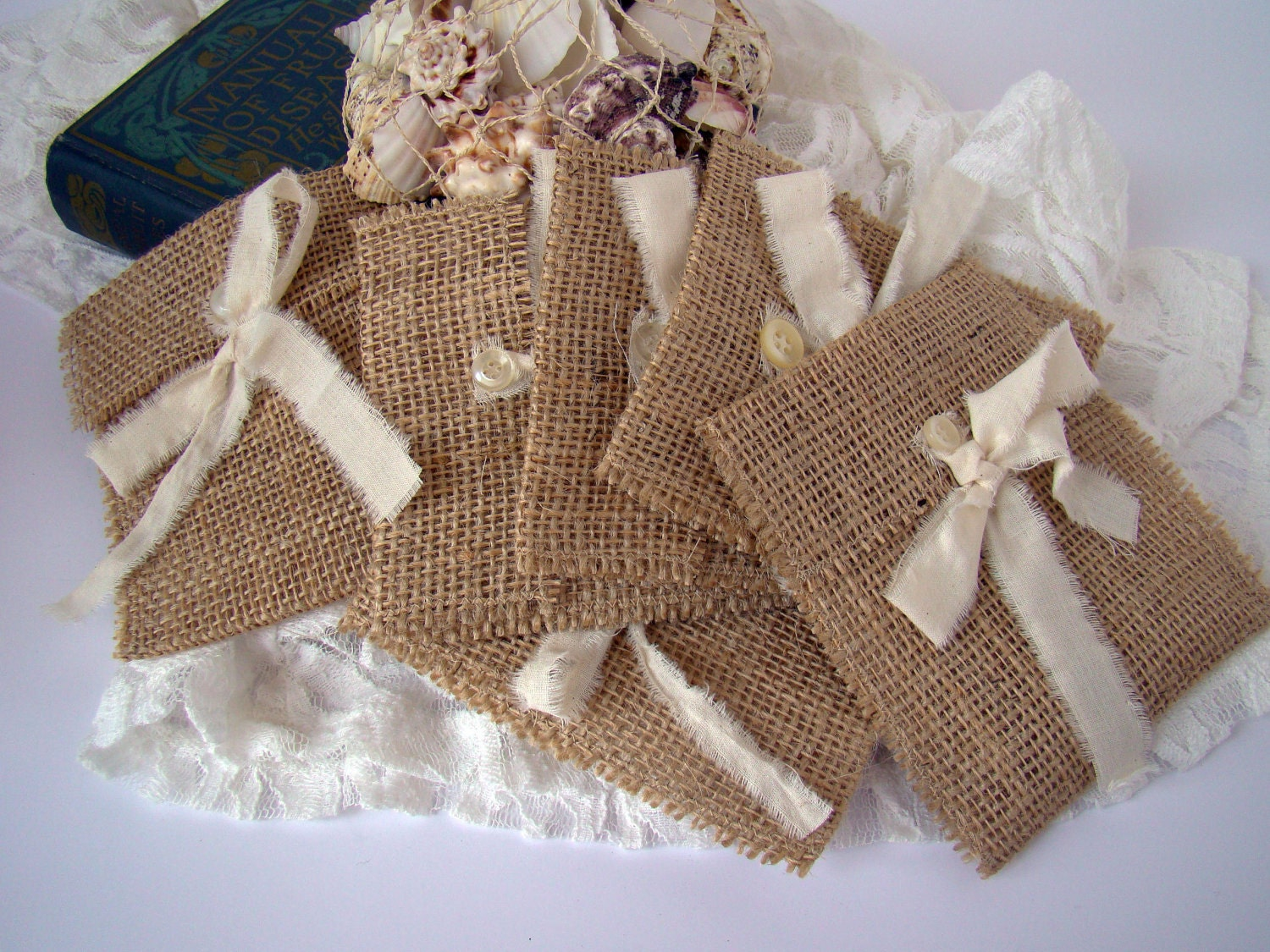 Rustic burlap wedding favor gift bag by twiningvines on etsy for Wedding favor gift bags