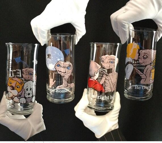E.T. Glass Set ET Cups 1982