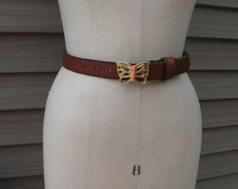 Vintage Boho Brass Butterfly Belt