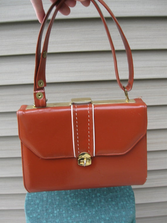 1950s Mad Men Deep Red Purse