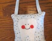 Blue Polka Dot Tooth Fairy Pillow