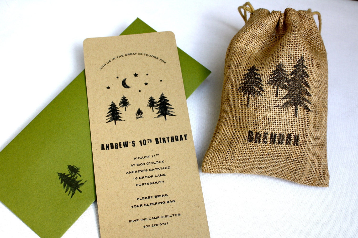 zoom - Camping Party Invitations