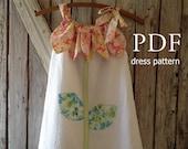 Sunny Flower - Pillowcase Dress Pattern Tutorial. Girl's Dress Pattern. Girl's Sewing Pattern. Easy Sew Sizes 12m thru 10 included