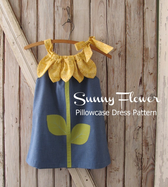 Sunny Flower Pillowcase Dress Girl Sewing Pattern Pdf
