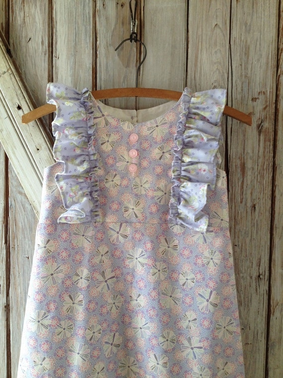 Garden Party - Girl's Dress Pattern. Girl's PDF Sewing Pattern. Toddler and Baby Pattern. Sizes 1-10