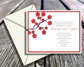 SPECIAL VALUE 100 Cute cherry blossom Wedding invitations