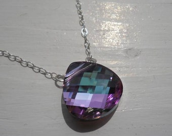 Researved For Andrea...Swarovski briolette pendant in vitrail light pink, it's just BEAUTIFUL.