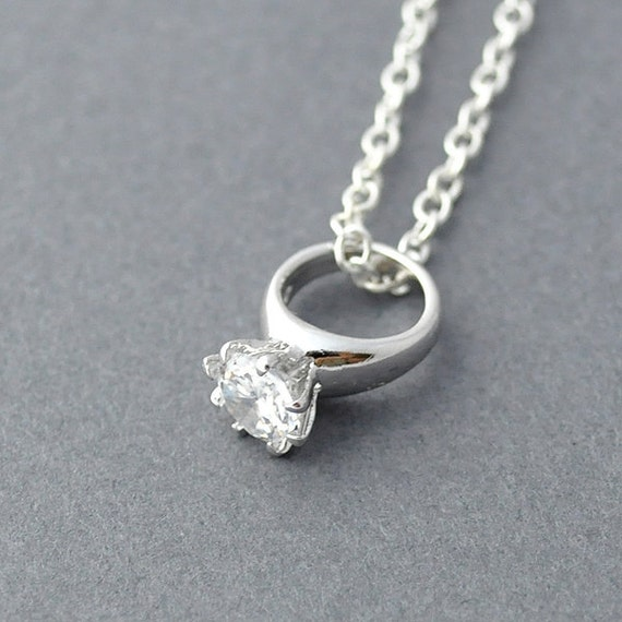 wedding ring necklace silver ring necklace wedding ring necklace ring 9968