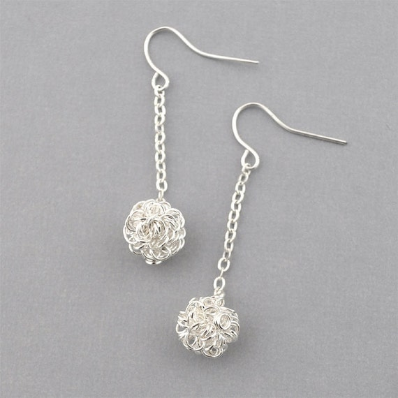 items similar to silver wire earrings simple