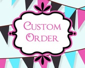 CUSTOM ORDER for Erin:  Deluxe Girls Birthday Bunting Girls Birthday Banner Girls Room Decorations Table Banner Booth Banner
