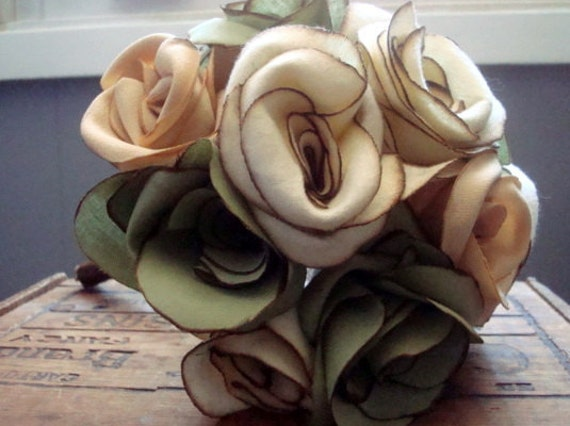 Clearance - Green Gables Fabric Rose Bouquet