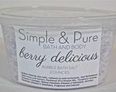 Mini Bubble Bath Salts - Berry Delicious - Bubble Bath Salts Sample