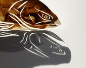 Papercut Trout - Original Hand-cut Paper Artwork - Fish Series
