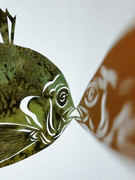 Fish Papercut - Bluegill - Original Artwork