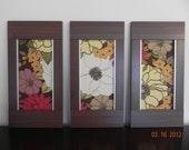 Handmade WALL DECOR, wooden frame, fabric canvas, wall hanging