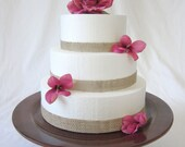 handmade wedding cake stand - perfect for outdoor wedding - large enough for 12-inch tiered cake