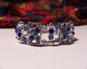 Swarovski Blue Sapphire Crystal Beaded  Bracelet