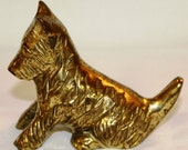 Solid Brass Terrier Figurine