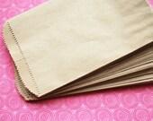 "50 Small Flat Kraft Merchandise Bags - 3 1/4"" x 5 1/4"""