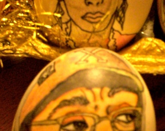 Spike Lee, Joi, Rosanne, Wynonna, Superman, Batman Hand painted Custom order eggs.