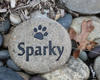 Custom Pet Memorial with Paw Print