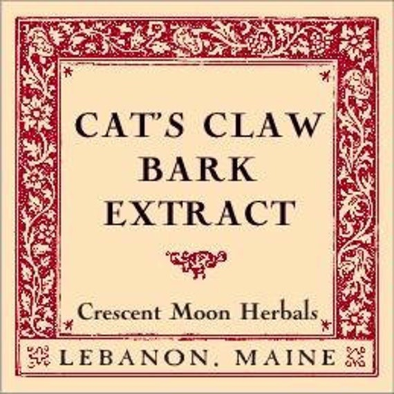CAT'S CLAW BARK (Unicaria Tomentosa Samento) Herbal Extract, 2, 4 and 8 oz