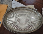 Serving Tray Two Piece Serving Tray Vintage
