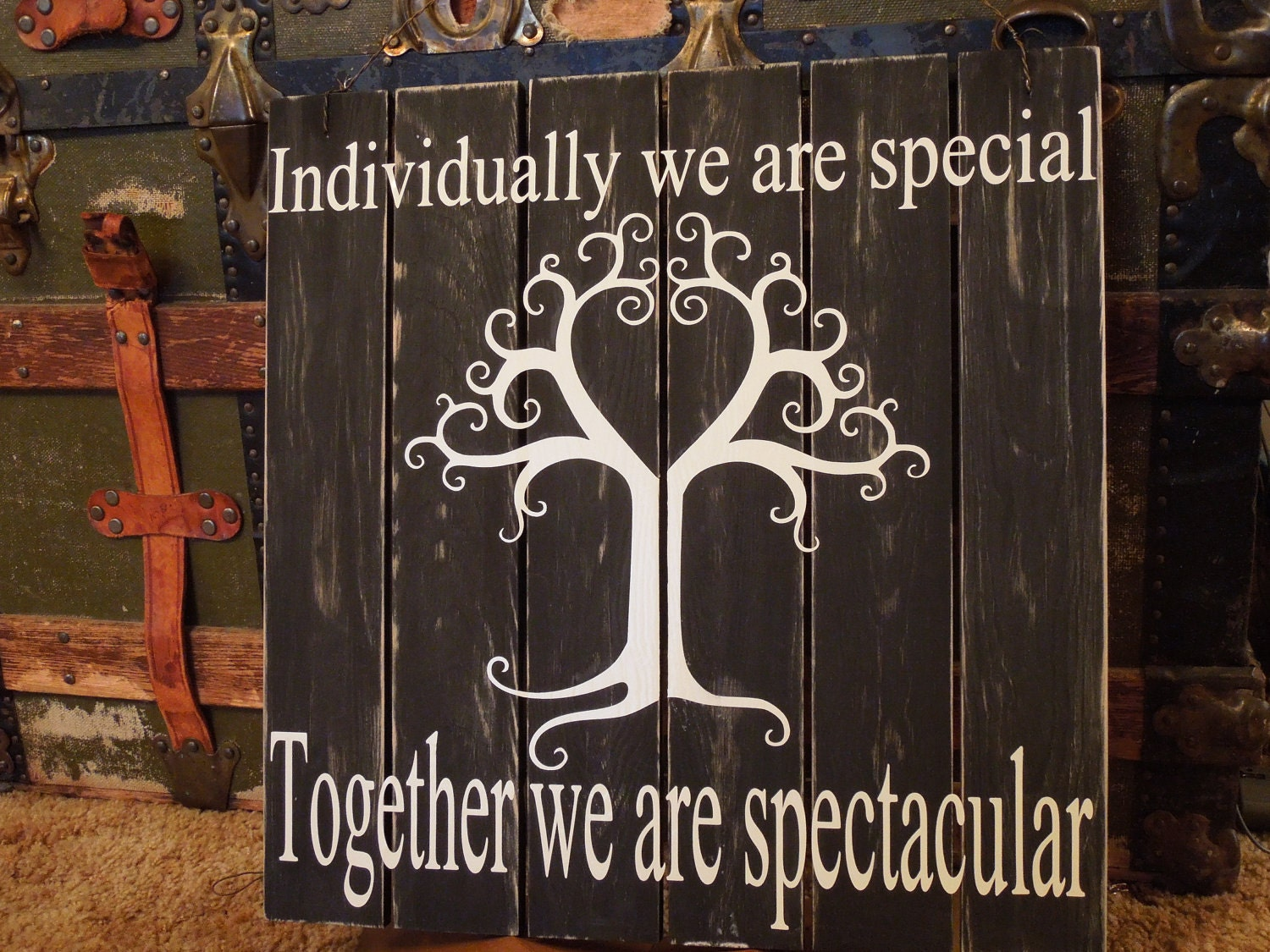 We Are Family Quotes: Pallet Sign Individually We Are Special. Together By
