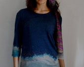 abstract embroidery t shirt