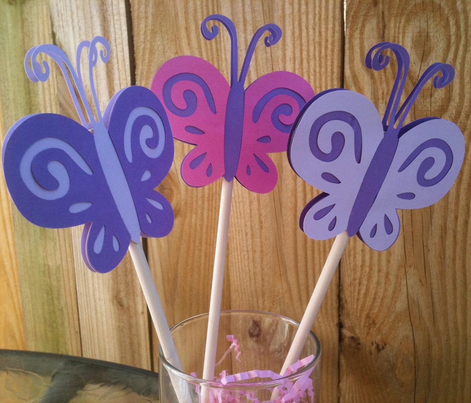 Butterfly centerpieces birthday party baby shower pink for Baby shower decoration butterfly