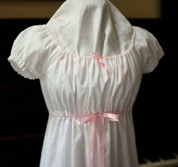 Romantic Peasant Cotton Nightgown Size Small -Ready to Ship