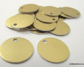 50 0.69 Inch Gold Anodized Aluminum Tags, Medium Blank Discs