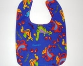 Toddler Bib Blue Dragon