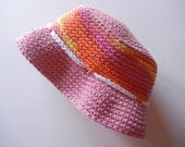 Baby Sun Hat Candy Colors & Pink Fisherman