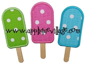 Popsicles Applique Embroidery Design