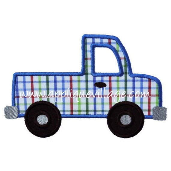 Items similar to truck applique embroidery design on etsy