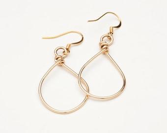 14K Gold Filled Hoop Earrings