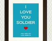 Fathers Day Gift for a Soldier Deployed in the Military - Air Force, Army, or Navy - Overseas or close to home - Mother's Day