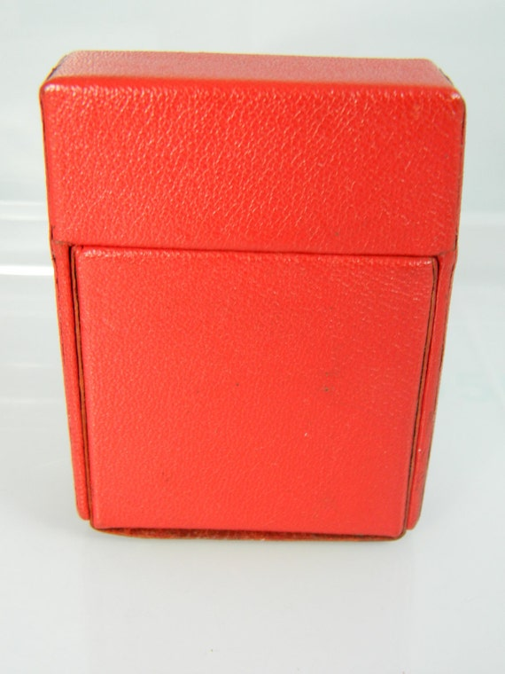 Vintage Red Leather Cigarette/Business Card Case