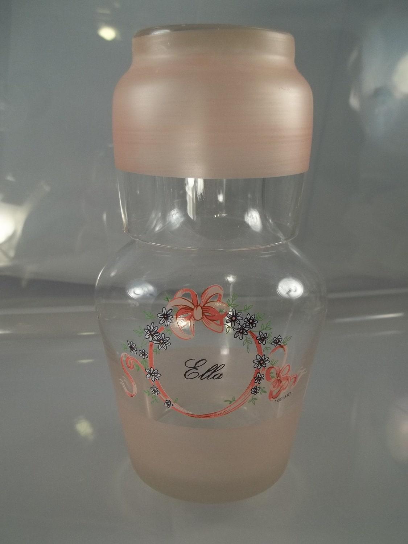 Vintage Bedside Water Carafe And Glass Ella