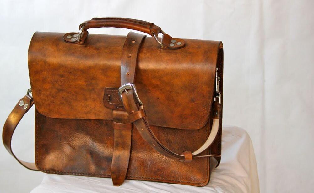 Hippie Rustic Leather Messenger Bag Men S Women S