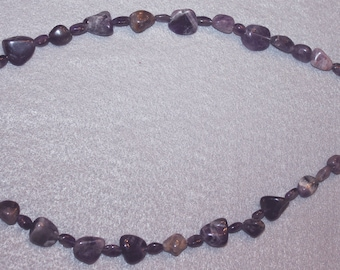 Purple amythest stone necklace