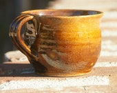 Amber Soup Mug - stoneware pottery, hand thrown - muddywaterscc