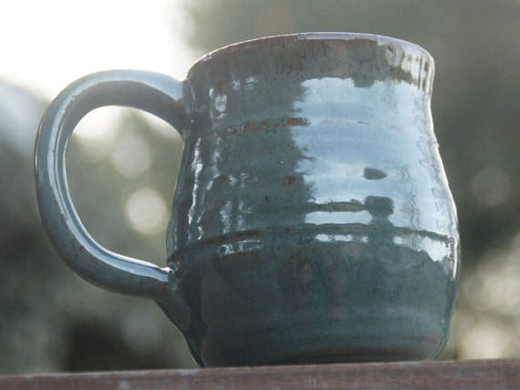 Sage Green  Mug - hand thrown stoneware pottery