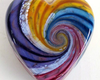 Rainbow Heart paperweight