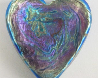 Iris Gold Heart Paperweight