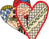 2 Hearts Embroidery Design