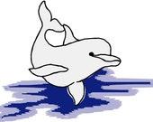 Dophin Embroidery Design
