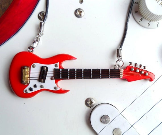 Red Lyon Washburn electric guitar necklace pendant rock by Mortiis.M Corsets & Accessories